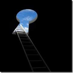 замочная скважина и лестница